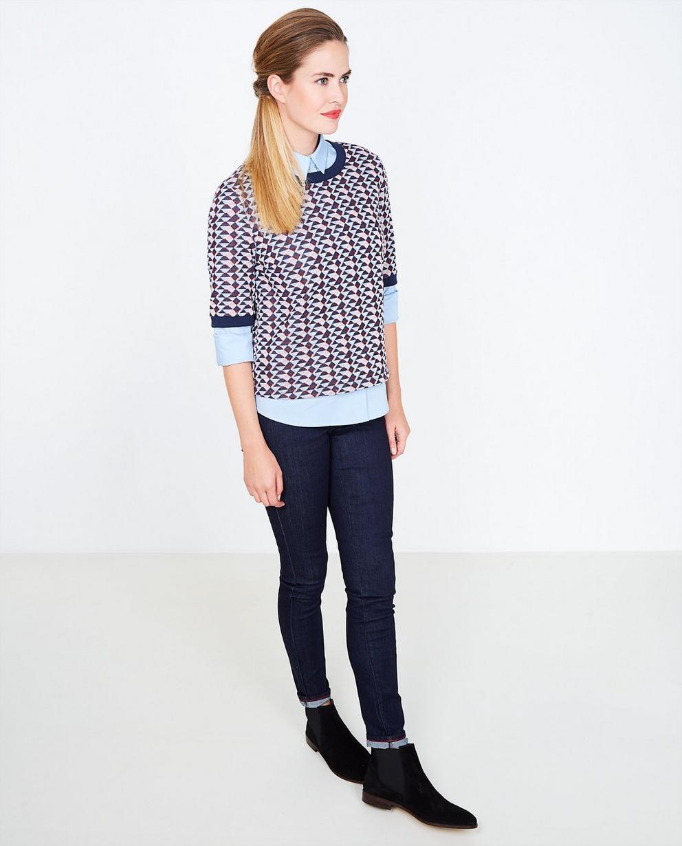 Fijngebreide blouse - met grafisch patroon - JBC